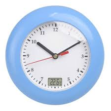 online shop 99 minutes lcd digital bathroom wall clock waterproof