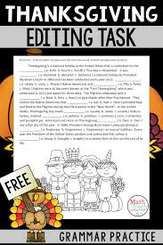 ten facts about thanksgiving enjoy this free thanksgiving editing task students will enjoy the