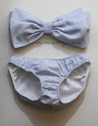 white and blue bows swimwear bow blue stripes pastel swimwear swimming