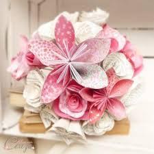 tons mariage bouquet de mariage d hiver original fleurs de papier tons
