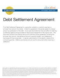 letter debt negotiation letter template