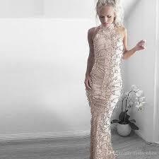 wedding sale sale gold fringe sequin dress wedding maxi halter neck
