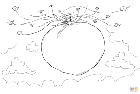 seagulls carrying james and the giant peach coloring page free