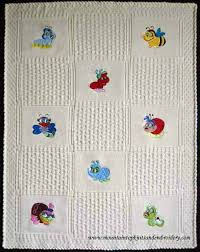 engraved blankets baby bug knitted baby blankets bug embroidered baby blankets