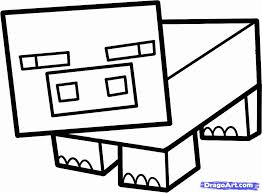 coloring pages minecraft pig minecraft pig coloring pages olegratiy