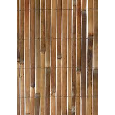 forever bamboo 3 4 in natural rolled bamboo fence hayneedle