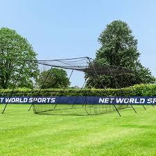 Backyard Batting Cages Reviews Fortress Mobile Baseball Batting Practice Cage Net World Baseball