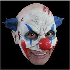 rod blagojevich halloween mask latex horror black eyed evil clown mask halloween fancy dress