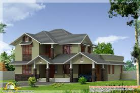 3d House Plan by 2 Different 3d Home Elevations Kerala Home Design And 4 Different