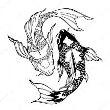 koi fish ying yang symbol stock photo xaxalerik 98710620