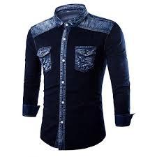design hemd männer slim fit drehen unten kragen brust drapieren design