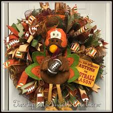 football fall autumn turkey deco mesh wreath by twentycoats wreath