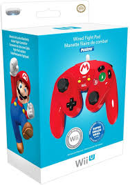 amazon com pdp wired fight pad for wii u mario nintendo wii u