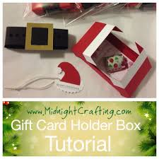 christmas gift card boxes gift card holder box tutorial midnight crafting