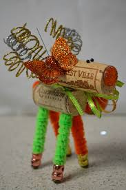 wine cork reindeer butterfly decorated wine cork animals