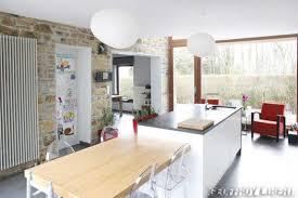cuisine avec ilot table impressionnant cuisine avec ilot table avec cuisine ilot central