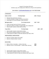 Resumes Templates Microsoft Word Free Chronological Resume Template Microsoft Word Resume