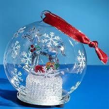 4 inch rocking snow globe light up glass ornament