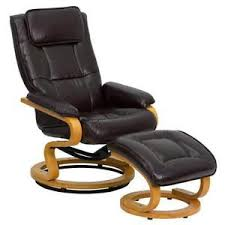 Leather Armchair With Ottoman Leather Chair Ebay