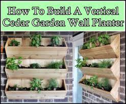How To Build A Vertical Garden - how to build a vertical cedar garden wall planter the homestead