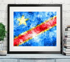 Dr Congo Flag Democratic Republic Of Congo Flag Art Flag Print Flag Poster