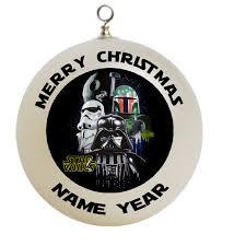 star wars trio with black background christmas ornament custom