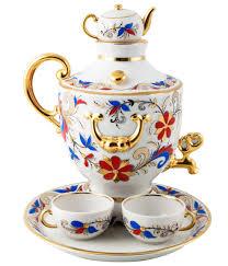 teapot set ekaterina s imperial porcelain tea samovar teapot set for 2