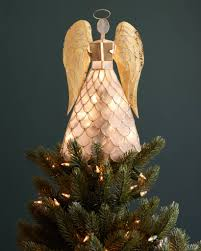lighted tree topper capiz angel lighted tree topper balsam hill