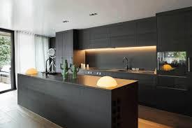 contemporary matte black kitchen cabinet smooth black rock
