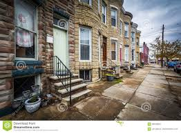 row houses in hampden baltimore maryland stock image image