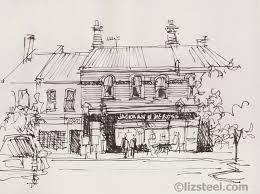 drawing street scenes in ink only urban sketchers