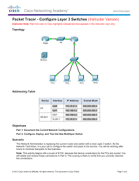 configure layer 3 switches instructor version