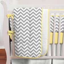 Foldable Baby Crib by Gray And Yellow Zig Zag Crib Bedding Bold Chevron Crib Bedding