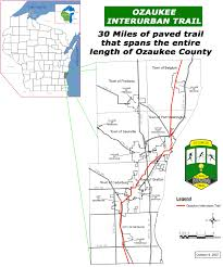 Michigan Trail Maps by Ozaukee County Wisconsin Interurban Bike Trail About The Trail