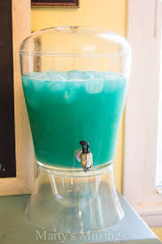 Cocktail Recipes For Party - easy blue frozen punch for any party