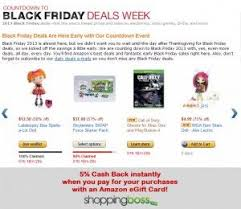 when amazon black friday amazon black friday deals now 5 cash back instantly with an