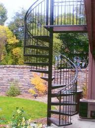 ornamental spiral staircase outdoor porch project