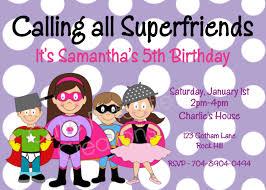 7 extraordinary superhero party invitation srilaktv com