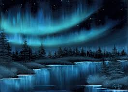 how to paint northern lights northern lights by spikylein on deviantart