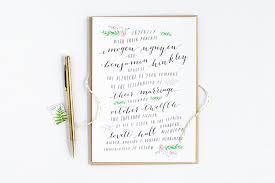 Calligraphy Wedding Invitations Watercolor Greenery Calligraphy Wedding Invitations U2014 Alisa