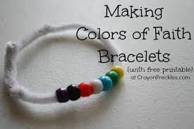 christian bracelet crayon freckles colors of faith christian bracelet
