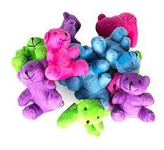 neon plush bears stuffed animals bulk 1 dozen assorted stuffed