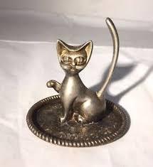 vintage cat ring holder images Vintage silver metal cat jewelry ring holder cat ring holder jpg