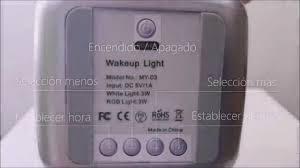 tecboss bedside l wake up light tecboss wake up light con simulación sunrise practica y decorativa