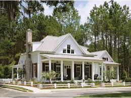 Single Story Country House Plans One Story Barn Style House Plans Arts Single Ranch With Porches