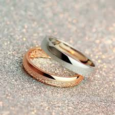 simple wedding rings images Gold plated simple wedding ring set without stones classic plain png