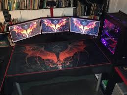 acrylic desk mat custom size desk protector custom size desk design ideas