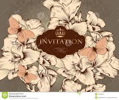 Vintage Wedding Invitation Cards Beautiful Vector Wedding Invitation Card In Vintage Style Stock