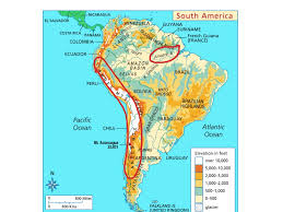 Map Quiz South America by Physical Map Of South America History Social Studies Geography