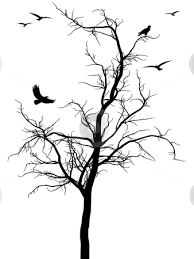 black tree with birds stock vector clip library